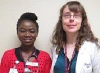 Omobola Fakomi and Marie Greer-King